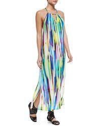 Milly Brushstroke-print Racerback Maxi Dress - Lyst