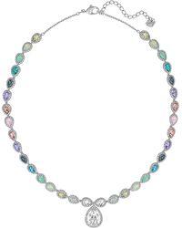 Swarovski Caption Rainbow Crystal Pendant Necklace - Lyst