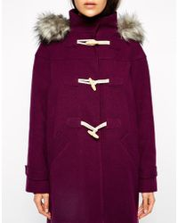 Asos Exclusive Duffle with Luxury Faux Fur Hood - Lyst