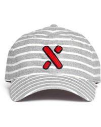 Alex Mill Stripe Flannel Baseball Cap - Lyst