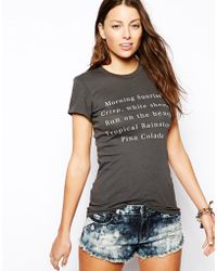 Wildfox T-Shirt with Holiday Wishlist Print - Lyst