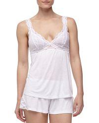 Eberjey Matilda Fanned Lace Shorts White Small04 - Lyst