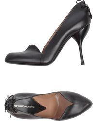 Emporio Armani Gray heels pumps - Lyst
