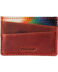 Pendleton Leather Front Pocket Wallet - Lyst