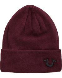 True Religion - Knit Cotton Watchcap - Lyst