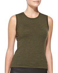 Carolina Herrera Virgin Wool Knit Shell - Lyst