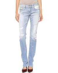 True Religion Cora Straight Jeans Sail Away - Lyst