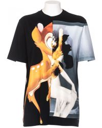 Givenchy T-Shirt In Cotton Bambi Front And On Sleeve black - Lyst
