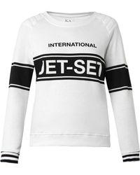 Zoe Karssen International Jet Setprint Sweatshirt - Lyst