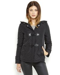 Kenneth Cole Reaction Hooded Quilted Toggle Coat - Lyst