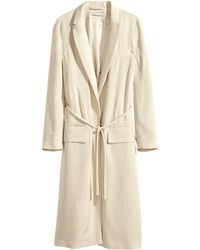 H&M Coat In A Textured Weave - Lyst