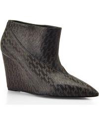 Hermès Black Hanna Wedge Booties - Lyst
