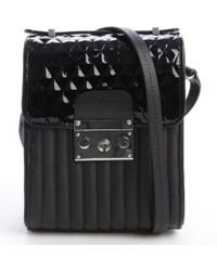 L.a.m.b. Black Quilted and Patent Leather Camelia Shoulder Bag - Lyst
