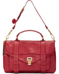 Proenza Schouler Raspberry Red Leather Medium Ps1 Satchel - Lyst