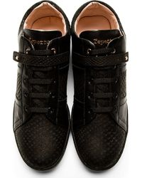 Repetto - Black Viper Stamped Love Sneakers - Lyst