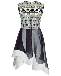 Peter Pilotto Embellished Silk Tessera Dress - Lyst