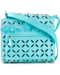 Versace Signature Perforated Cross-Body Bag - Lyst