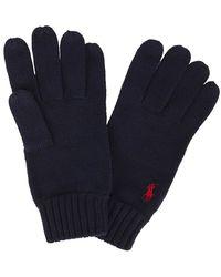 Polo Ralph Lauren - Navy Merino Wool Gloves - Lyst