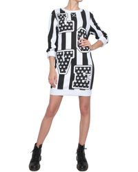 Love Moschino Cotton Dress With Love Print - Lyst