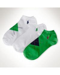 Ralph Lauren Argyle Lowprofile-sock 3pack - Lyst