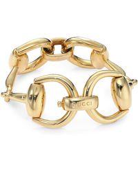 Gucci   Horsebit 18k Yellow Gold Bracelet   Lyst