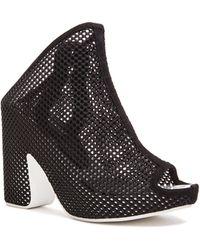 Balenciaga Chunky Heel Mesh Mules black - Lyst