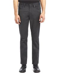 Kenneth Cole Flat Front Five Pocket Pants - Lyst