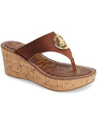 Sam Edelman 'Ruth' Wedge Sandal - Lyst