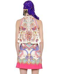 Manish Arora - Embellished Printed Crepe Halter Top - Lyst