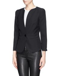 Armani Sheer Silk Chiffon Cutout Back Jacket - Lyst