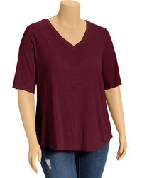 Old Navy Plus Shortsleeved Vneck Sweaters - Lyst