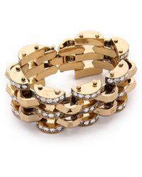 Lulu Frost Veratrum Bracelet - Clear/gold - Metallic