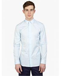 Maison Margiela Men'S Blue Slim-Fit Cotton Shirt - Lyst