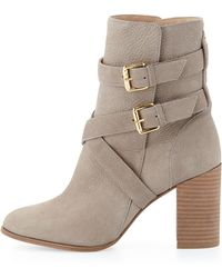 Kate Spade Lexy Double-buckle Ankle Boot Stone 360b60b - Lyst