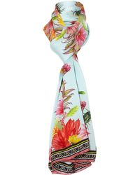 Matthew Williamson Cactus Garden Silk Satin Long Scarf - Lyst