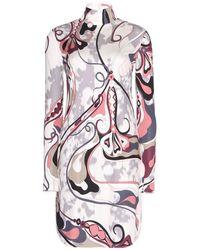 Emilio Pucci Silk Turtleneck Dress - Lyst