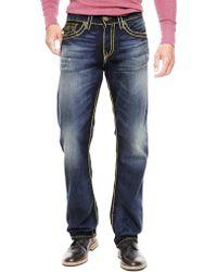 True Religion Ricky Straight Dark Cast Super T Mens Jean - Lyst