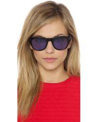 Wonderland - Colton Sunglasses - Gloss Black/Grey - Lyst