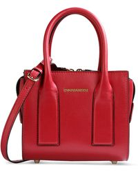 DSquared² Medium Leather Bag red - Lyst