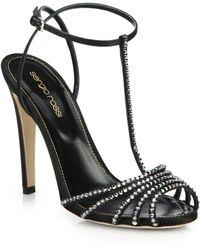 Sergio Rossi Shadow Swarovski Crystal Sandals - Lyst