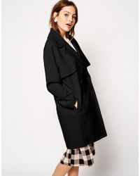 Asos Coat in Cocoon Fit with Stormflaps - Lyst