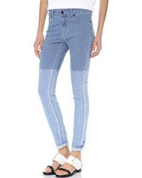 Surface To Air - Horizontal Super Skinny Jeans Light Blue - Lyst