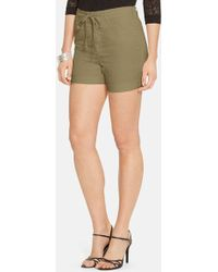 Lauren by Ralph Lauren Drawstring Cotton Chino Shorts - Lyst