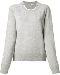Jil Sander Crew Neck Sweater - Lyst