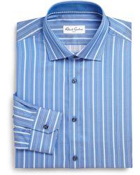 Robert Graham Regular-Fit Herringbone Stripe Dress Shirt - Lyst