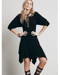 Free People Black Clashin Dress - Lyst