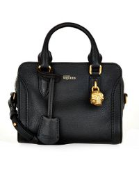Alexander McQueen Mini Padlock Zip-Around Bag - Lyst