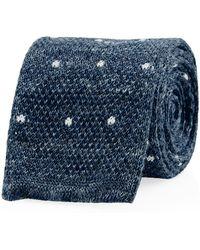 Hackett | Mayfair Knitted Dot Tie | Lyst