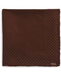 W.r.k. - Dot Wool & Silk Pocket Square - Lyst