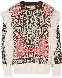 Emilio Pucci - Fringed Jacquard-knit Jumper - Lyst